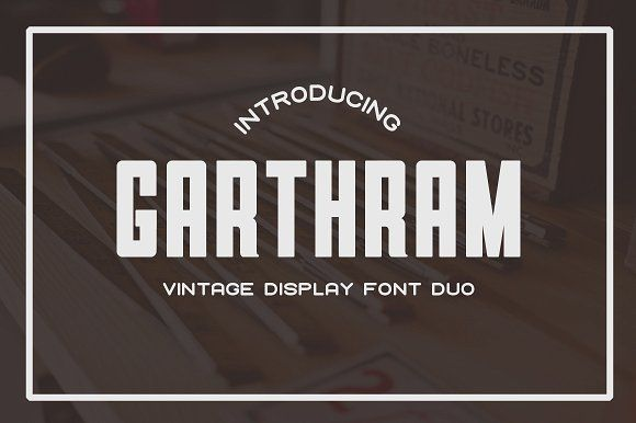 Garthram Font Duo + Bonus Logos by BART.Co Design on @creativemarket