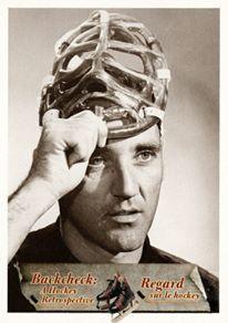 24. Le masque de Jacques Plante.  Jacques Plante a été le premier gardien de but du hockey moderne à porter un masque protecteur, tel qu'on le voit sur cette photo prise au cours de la saison 1959-1960. #CarteDeHockey