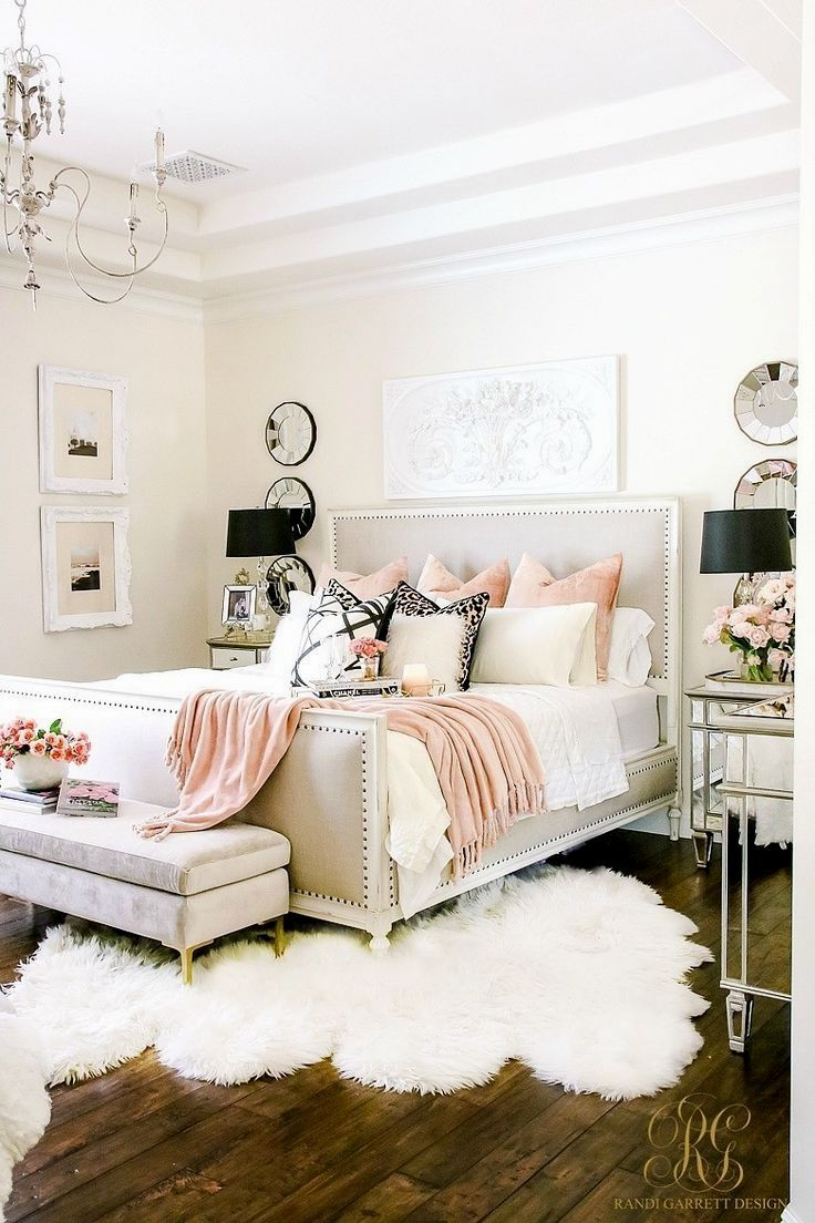 Pink And White Master Bedroom Decor Girly Bedroom Decor Ideas