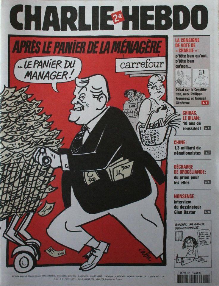 Charlie Hebdo - # 671 - 27 Avril 2005 - Couverture : Cabu