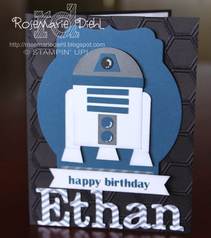 Hi all! Hope you guys had a great weekend! I've got a quick post today - a fun birthday card I made for my Godson's birthday. He ...