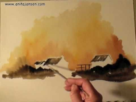 "Watercolour demo - Aquarelle "" Evening Glow"""