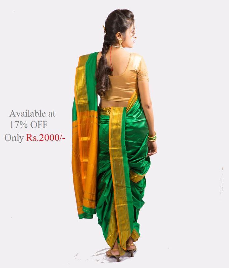 #discount on the purchase of #nauvarisaree http://www.snapdeal.com/product/saj-readymade-traditional-brahmni-nauvari/749631646#bcrumbSearch:nauvari%20saree