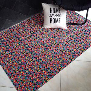 Canvas Rug / Karpet Kanvas - Multiple Triangle GREEN