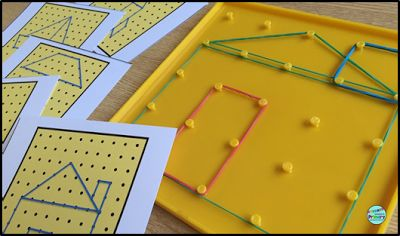 2D Geometry and dabbling with Inquiry based teaching - using geoboards to explore shapes and engage kids.