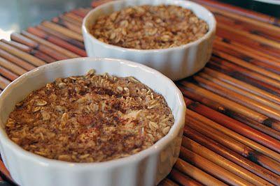 Skinny Weighs: Baked Apple Crisp Oatmeal   Food   Pinterest