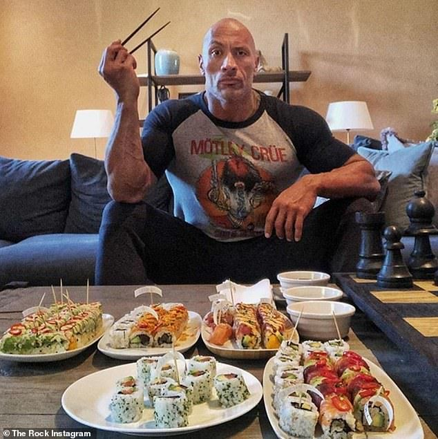 Dwayne Johnson Gives The People S Eyebrow During Epic Sushi