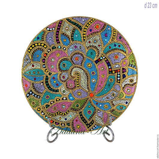 Декоративная посуда ручной работы. Ярмарка Мастеров - ручная работа. Купить КАРНАВАЛ В РИО декоративная тарелка Точечная роспись. Handmade.
