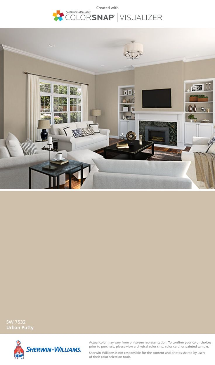 I found this color with ColorSnap® Visualizer for iPhone by Sherwin-Williams: Urban Putty (SW 7532).