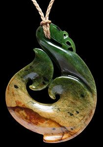 Large Jade Maori Manaia by master carver Ross Crump.   www.boneart.co.nz
