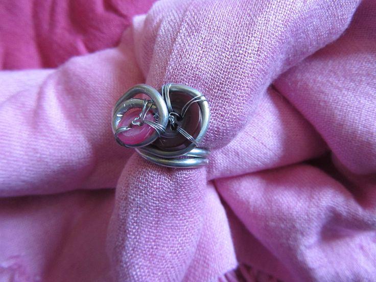 Anello creato con bottoni - Buttons ring