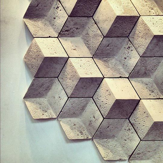 Geometric tiles by Giovanni Barbieri Handmade tiles can be colour coordianated and customized re. shape, texture, pattern, etc. by ceramic design studios