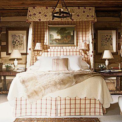cozy bedroom: Decor, Plaid, Crisp Bedroom, Cabin Bedrooms, Interiors Bedrooms, Master Bedroom, Country Bedrooms, Bedroom Ideas, Beautiful Bedrooms