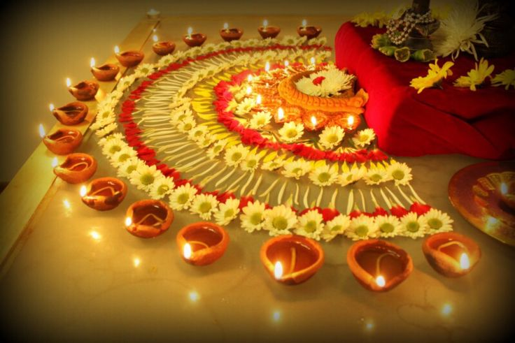 Diya decorations