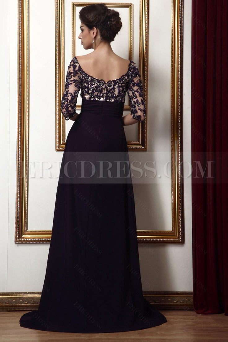 Amazing Lace Empire Waist Off-the-Shoulder  Beading Long Talines Mother of the Bride Dress