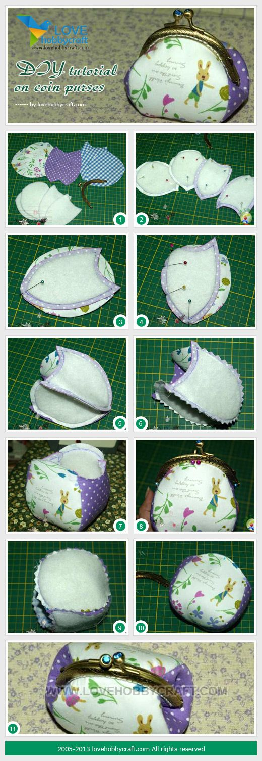 DIY tutorial on coin purses Follow us on Facebook here: http://www.facebook.com/diyncrafts