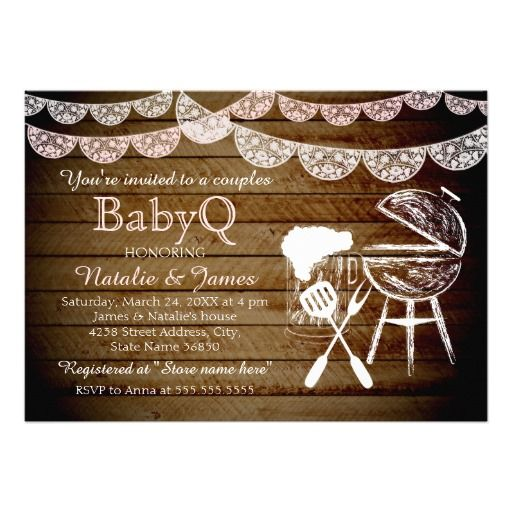 465 best couples baby shower invitations images on pinterest girl couples babyq bbq baby shower invitation filmwisefo Gallery