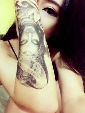 One Piece Buddha Lotus Tattoo Sticker