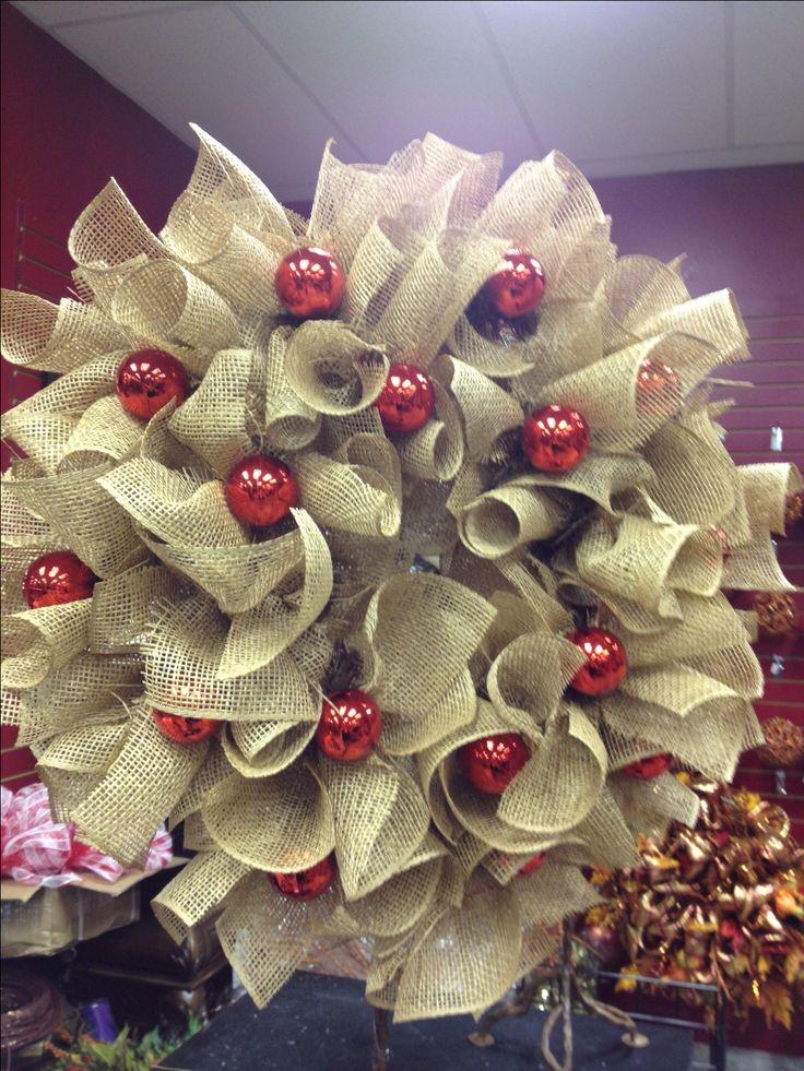 Burlap Wreath - love this one!