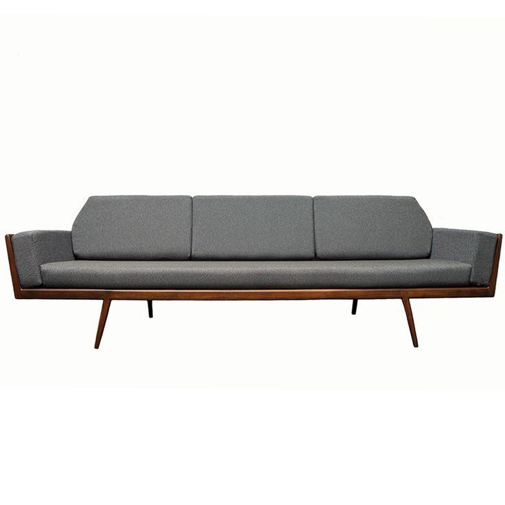 Rail Back Sofa Mel Smilow Furniture Midcentury Modern Design