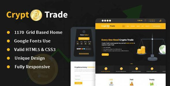 Crypto Trade Online Crypto Currency Trading Responsive Html5