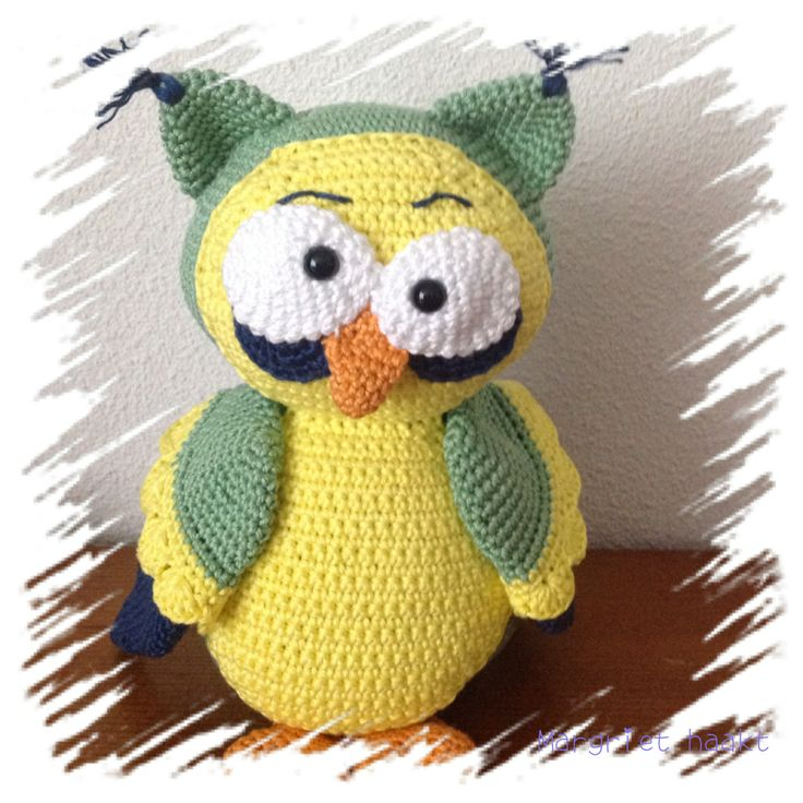 Gehaakte uil, chrochet owl  Made by me