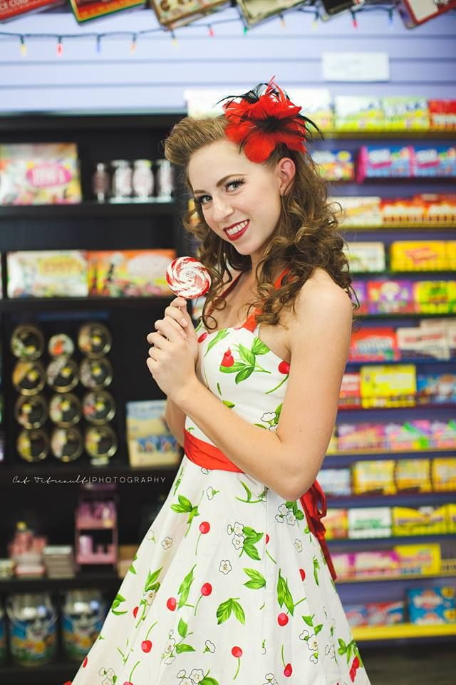 muah by Lexi Whitewall  Photo by Cat Tetreault Photography  @sticky Candy Downtown Chilliwack  #pinup #candystore #gorgeous #muahbylexi