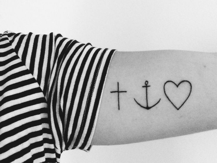 """Faith Hope and Love, 1 Corinthians 13:13  """"Three things Will last forever - faith Hope and Love- and the greatest of these is Love """"   Tatto - simpel - ink"""