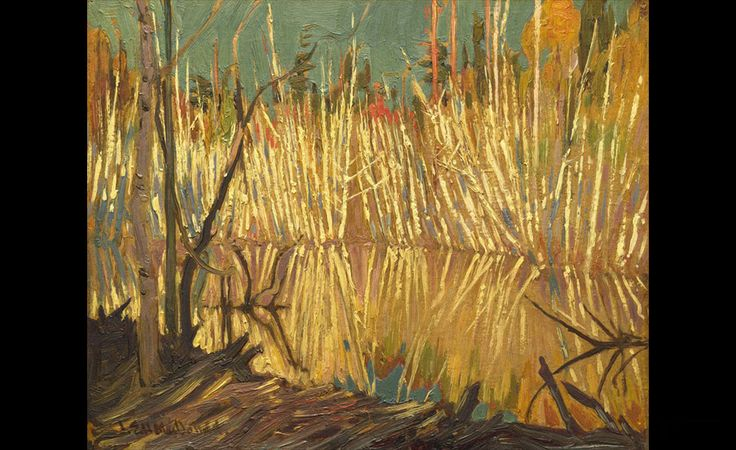 J.E.H. MacDonald (1873 - 1932), Beaver Dam and Birches, c. 1919