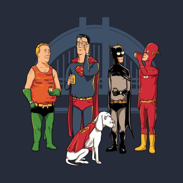 King Of The League T Shirt Design Justiceleague Superman