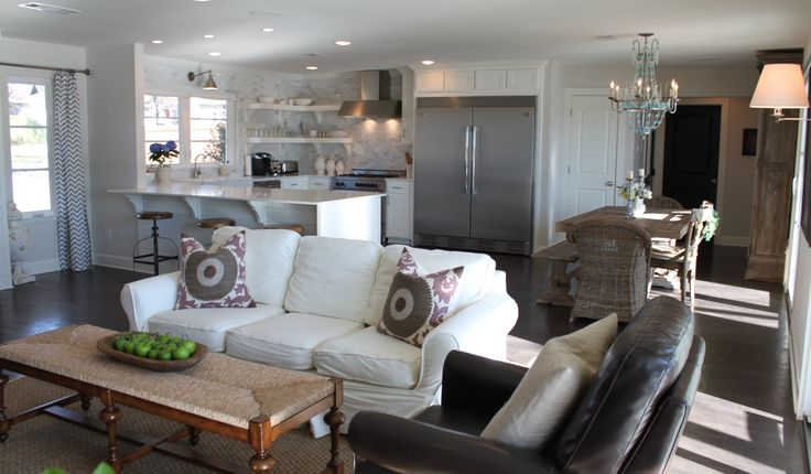 Open living area dining areas pinterest - Open plan living small spaces ...