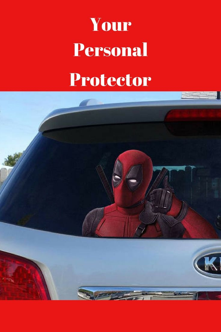 You can have your very owner personal protector wherever you go with this cute Deadpool window sticker, car sticker, Deadpool car decal, funny sticker Ask a question $4.50  #ad #movies #deadpool