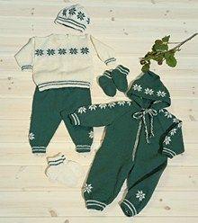 Babydress, genser, bukse, lue & sokker