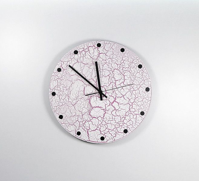 Uhren - Schallplattenuhr Weiss-Rosa - ein Designerstück von Zauberholz-Berlin bei DaWanda