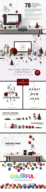 Christmas Scene Creator + BONUS by Place.to on Creative Market