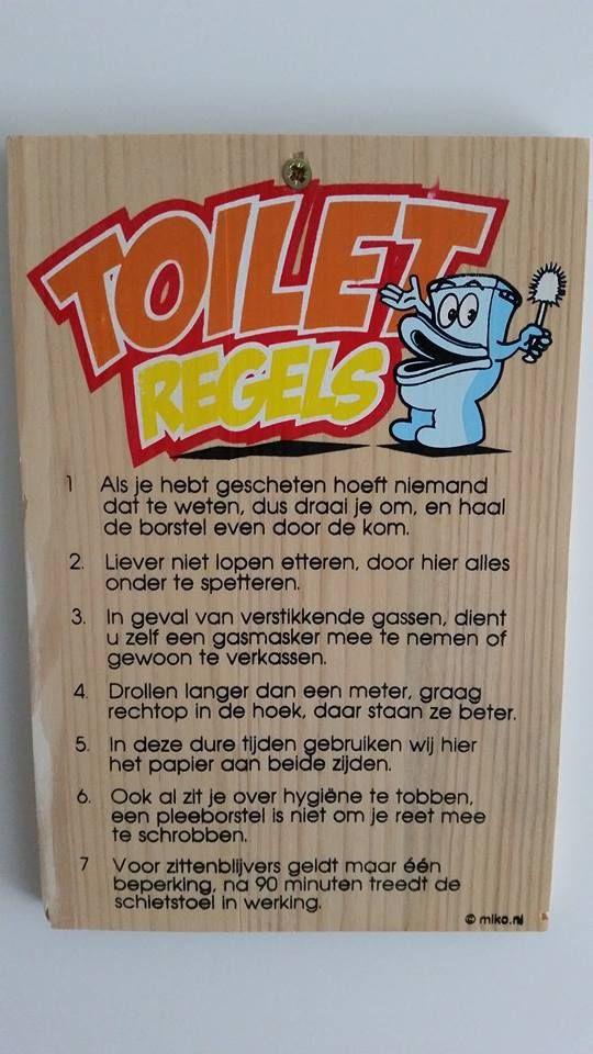 toiletregels | Spreuken en zo - Citaten, Te grappig en ...