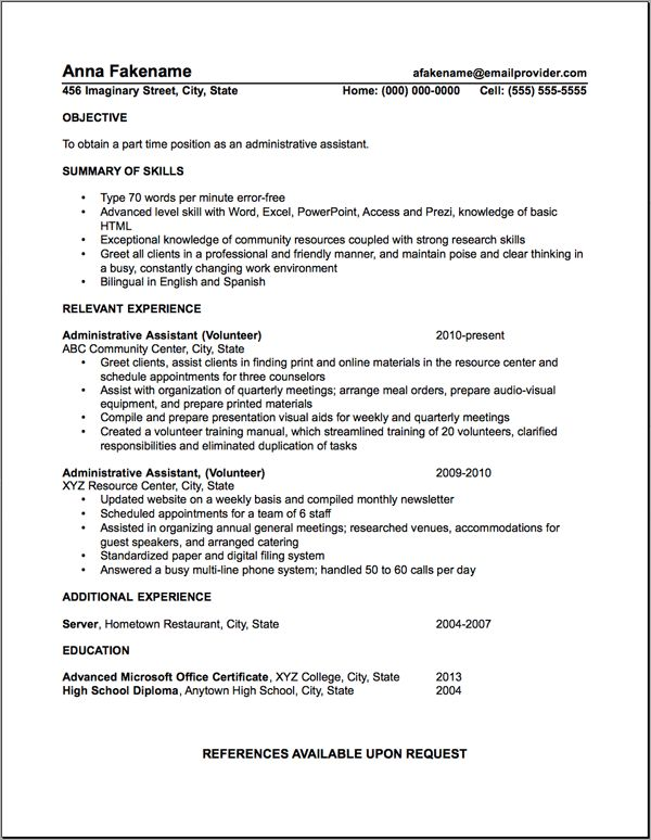 71 best RESUMES images on Pinterest Resume tips, Career advice and - Examples Of Resumes For Restaurant Jobs