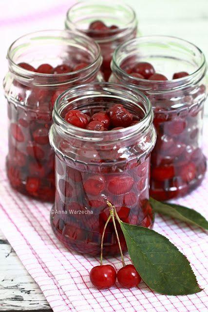 Wiśnie w słoikach bez cukru i soku - Wiem co jem