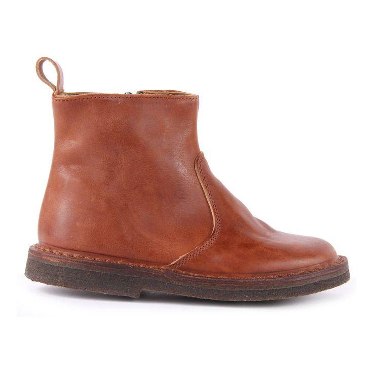 Pèpè Boots Zippées Cuir Camel