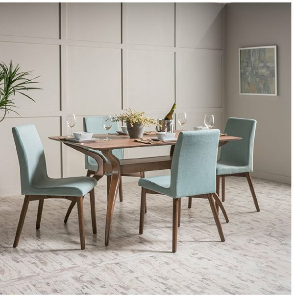Mid Century Modern Walnut 5 Piece Dining Room Set For Sale In