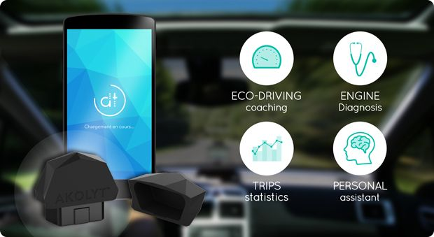 #IoT #crowdfunding AKOLYT, the key to a better driving. Activity tracker for your car, Akolyt is your journey coach and your intelligent assistant! | Indiegogo