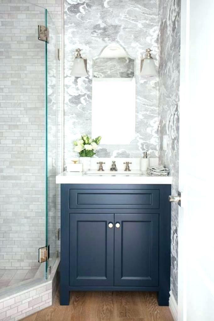 Pin By Emma Lavin On Bathroom In 2019 Blue Bathroom Vanity Powder Room Vanity Blue Vanity