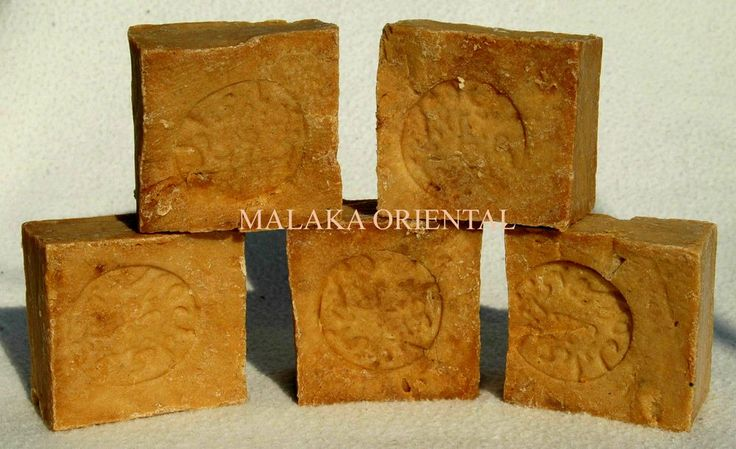 5 Stück Seifen original Alepposeife Lorbeer-Olivenölseife, ca. 850 g. Natur.