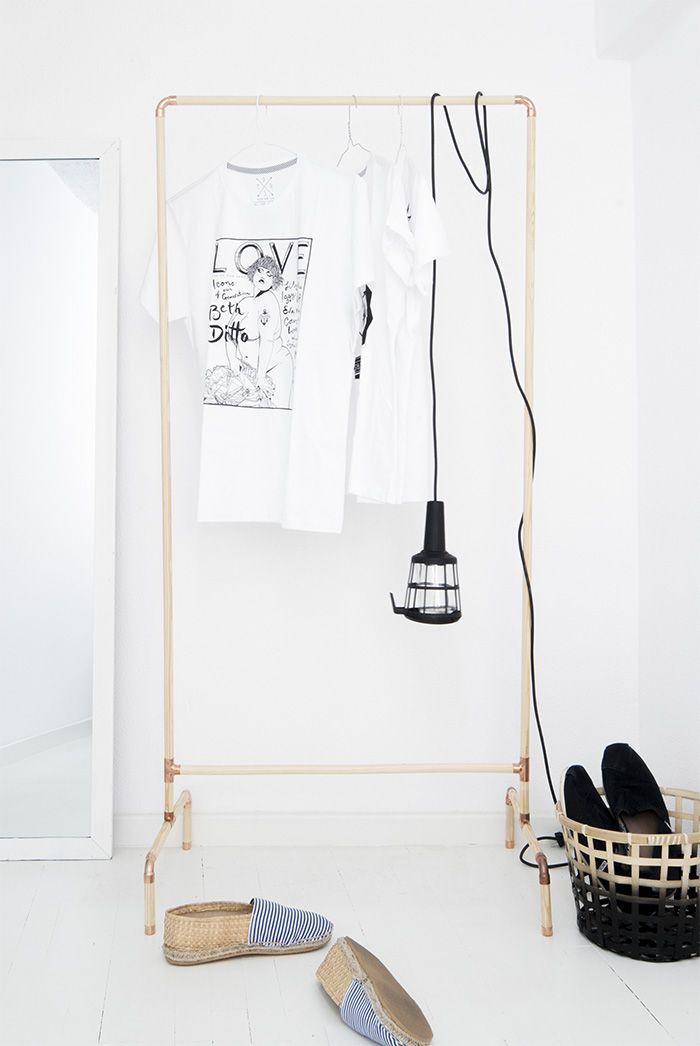 DIY: clothing rack * Kleiderständer selbstgemacht * tolle Anleitung *