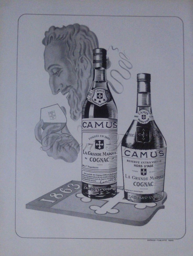 Vintage French Ad  Camus Cognac 1954 by reveriefrance on Etsy