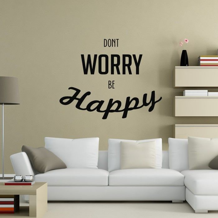 Dont worry be happy wall art lyrics stickers new decals
