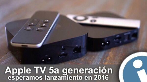 #Lanzamiento #Apple TV de quinta generación hay que esperar al principio del año 2016 según fuentes bien informados. Nueva 5a tv-consola será más potente.