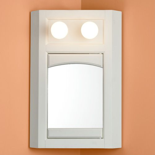 exton medicine white with 2 lights code medicine - Medicine Cabinets With Lights