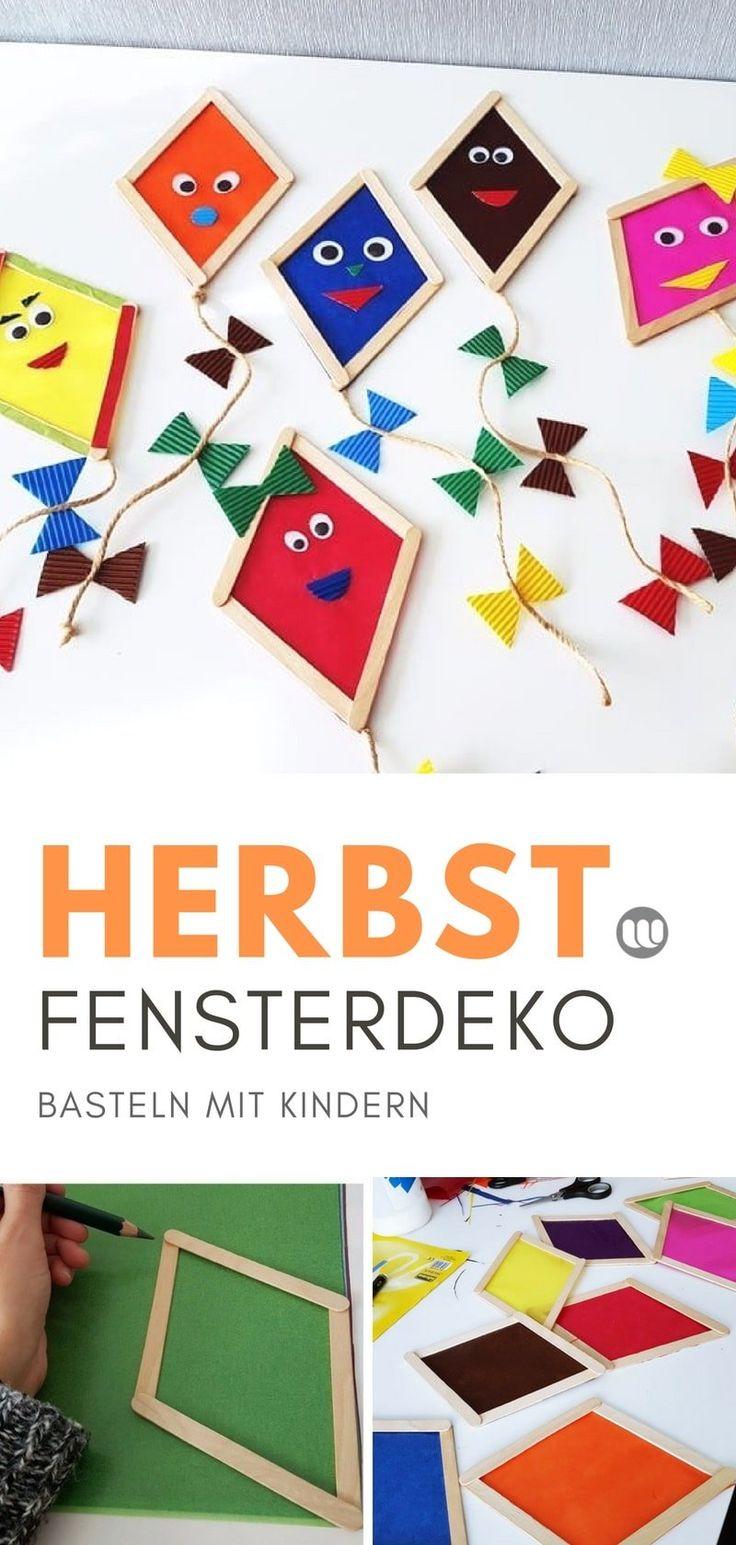 Drachen basteln mit Kindern: Fensterdeko aus Eisstielen – wirtestenundberichten: DIY ¦ Basteln ¦ Kinder