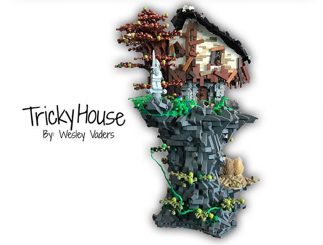 Another Flickr poster with stunning creations! This is a Tricky House by Wesley Vaders  #AFOL #lego #legostagram #bricks #legoworld #toyphotography #toystagram #legophotography #legoaddict #minifigures #legominifigures #bricknetwork #legominifigs #instagram #legoinstgrm #brickcentral #YESLEGO #legos #legofan #legomania #legoideas #legomoc #legobricks #classiclego #legoclassic #toyartistry_lego #legoideas #tree #treehouse #plant #joker